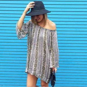 Calypso St Barth Off The Shoulder Paisley Dress